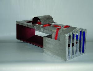 Claros - Sculpture en acier inox polychrome, 2010 - Pierre Hémery