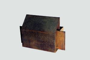Kapsa - Sculpture en acier corten, 2000 - Pierre Hémery