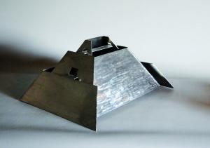 Sakkara - Sculpture en acier inox, 2008 - Pierre Hémery