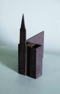 Strasbourg - Sculpture en acier corten, 2008 - Pierre Hémery