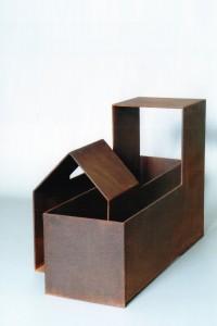 Demeure - Sculpture en acier corten, 2005 - Pierre Hémery