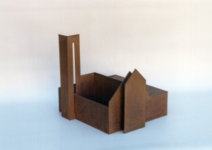 Frari - Sculpture en acier corten, 2003 - Pierre Hémery