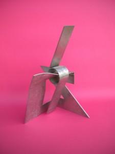 Hurricane, sculpture en acier inox, 2006 - Pierre Hémery