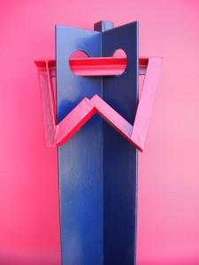 Orant, sculpture en acier polychrome, 2015 - Pierre Hémery