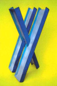 Hommage à Girolamo Cardano - Sculpture en acier polychrome, 2016 - Pierre Hémery