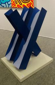Hommage à Girolamo Cardano, sculpture en acier polychrome, 2016 - Pierre Hémery